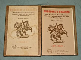 TSR ' s - DUNGEONS & DRAGONS WOODGRAIN BOXED SET FROM 1975 (ULTRA RARE) 2