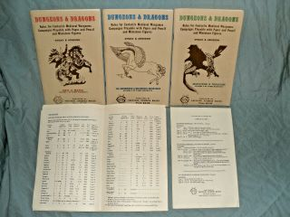 TSR ' s - DUNGEONS & DRAGONS WOODGRAIN BOXED SET FROM 1975 (ULTRA RARE) 3