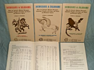 TSR ' s - DUNGEONS & DRAGONS WOODGRAIN BOXED SET FROM 1975 (ULTRA RARE) 4