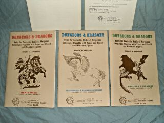TSR ' s - DUNGEONS & DRAGONS WOODGRAIN BOXED SET FROM 1975 (ULTRA RARE) 5