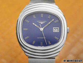 Longines Calibre L633 1 Mens 37mm Swiss Stainless St Vintage 1970s Watch Mj173