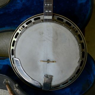 Vintage Gibson Mastertone Tenor Banjo With Grover Tuning Pegs & Case
