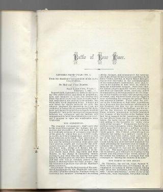 Rare 1863 printed report on the Bear River Massacre - Utah - (Mormon) 3