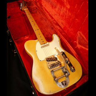 1968 Fender Telecaster W/ Bigsby Bridge Blond Vintage American Maple Cap Rare