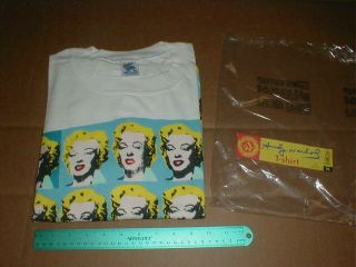 Andy Warhol Marilyn Monroe Xl T - Shirt Stock Made In Usa 1993 Nos