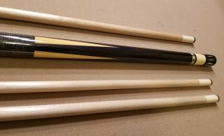 VINTAGE MEUCCI CUSTOM CUE ONE OF A KIND QUAD ACES WITH 8 RUBIES 10