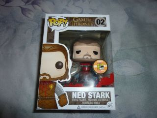 Game Of Thrones Pop 02 Ned Stark Headless Rare