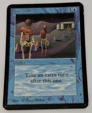 1993 Magic The Gathering Mtg Alpha Time Walk