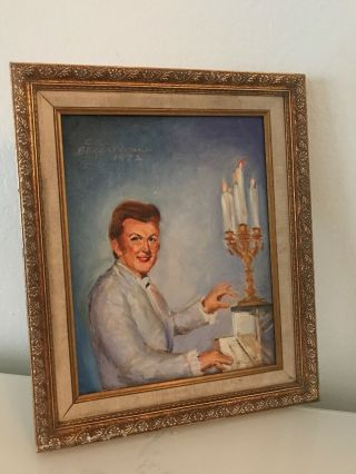 Liberace Estate Home Rare 1972 Signed Commissioned Painting