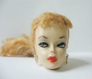 Early Vintage Ponytail Barbie Doll 1 or 2 Head Only 3