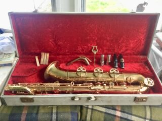 Vintage Baratone Saxaphone (dolnet Paris) Made In France -