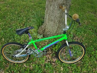 VINTAGE GREEN SILVER AUBURN CR - 20RX 1994 OWNER BMX FREESTYLE RACING 6