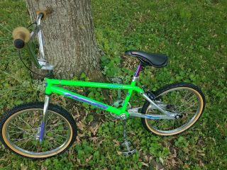 VINTAGE GREEN SILVER AUBURN CR - 20RX 1994 OWNER BMX FREESTYLE RACING 7