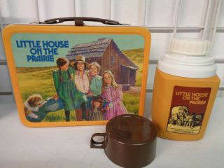 Vintage 1978 Little House On The Prairie Metal Lunchbox Complete W/ Thermos