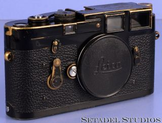 Leica Leitz M3 Black Paint Rangefinder Camera Body 1078715 Rare