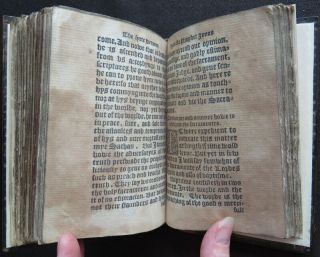 Rare HOOPER 1550 SERMONS JONAH Religion PROTESTANT MARTYR Carved Wood BINDING 10