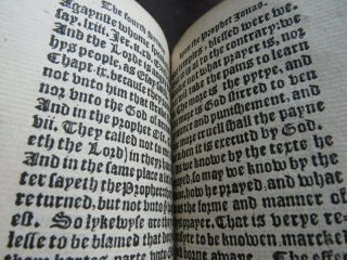 Rare HOOPER 1550 SERMONS JONAH Religion PROTESTANT MARTYR Carved Wood BINDING 3