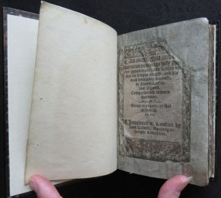 Rare HOOPER 1550 SERMONS JONAH Religion PROTESTANT MARTYR Carved Wood BINDING 4