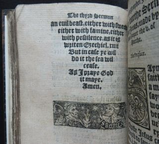 Rare HOOPER 1550 SERMONS JONAH Religion PROTESTANT MARTYR Carved Wood BINDING 7