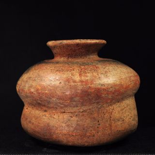 Pre - Columbian Colima Redware Double Pot With Fluted Top C.  200 Bc - 200 Ad