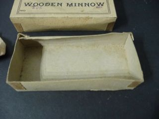 c.  1910 Red KAZOO Wooden Minnow Rhodes Shakespeare 105 Box NearMint 5