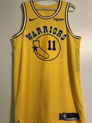 Rare Klay Thompson 2018 Warriors Hwc Game Issued Jersey Steph Durant