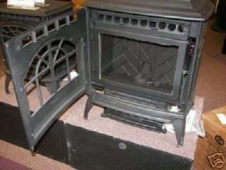 VINTAGE CAST IRON CORN WOOD PELLET STOVE FURNACE,  simulated ANTIQUE Frame, 4