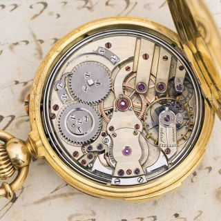 Repeater Solid Gold Antique Repeating Pocket Watch - Audemars Ebauche