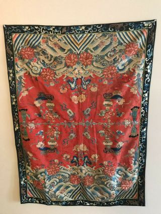 18th - 19th Antique Chinese Embroidery Silk Rare