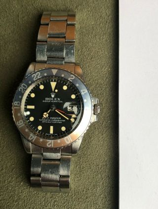 Vintage Rolex GMT Master 1675 from 1972 Rare PUNCHED PAPERS 2