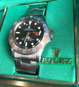 Vintage Rolex GMT Master 1675 from 1972 Rare PUNCHED PAPERS 3