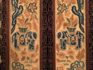 A Pair Chinese Qing Dynasty Textile Panels,  Framed.