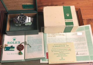 Vintage Rolex Red Submariner 1680 From 1970 Sub Rare Punched Papers Nr