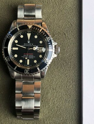 Vintage Rolex RED Submariner 1680 from 1970 Sub Rare PUNCHED PAPERS NR 3