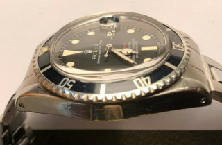 Vintage Rolex RED Submariner 1680 from 1970 Sub Rare PUNCHED PAPERS NR 5