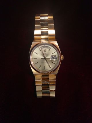 Mens Rolex Day - Date President Solid 18k Yellow Gold Watch