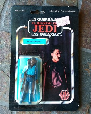 Vintage Lando Calrissian Lili Ledy 50708 With Backing