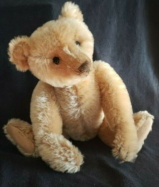 "Wow 1916 Steiff 16 "" Center Seam Teddy Bear With Button"