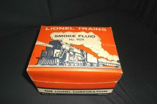 Lionel Rare No.  909 - 12 Dealer Display 12 2 Oz.  No.  909 Smoke Fluid
