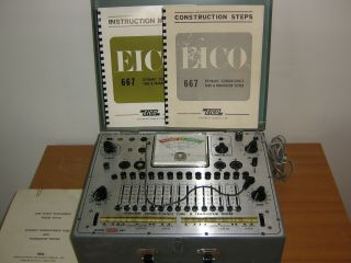 Vintage Eico 667 Dynamic Conductance Tube & Transistor Tester W/manuals