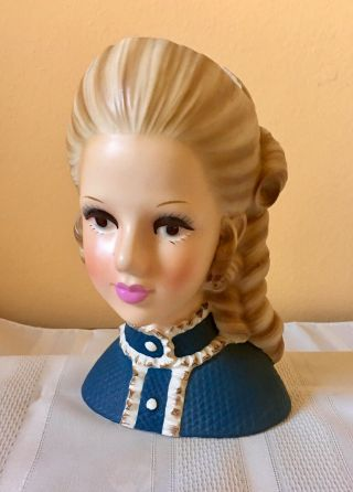 "81/2 Enesco Rare ""High Teen"" Head Vase 11"