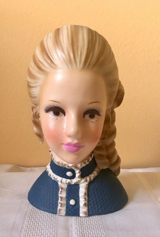 "81/2 Enesco Rare ""high Teen"" Head Vase"