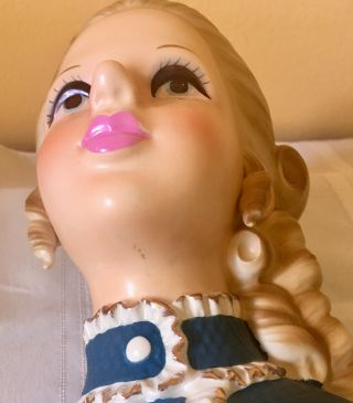 "81/2 Enesco Rare ""High Teen"" Head Vase 6"