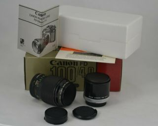 Lens Canon Fd 100mm F/4 1:4 Macro Pre - Owned Vintage