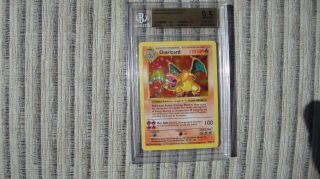 1999 Pokemon Shadowless Charizard Holographic Card 4 Bgs 9.  5 Gem Pop 14
