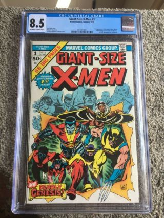 Rare 1975 Bronze Age Giant - Size X - Men 1 Cgc 8.  5 Universal Key 1st X - Men Oww