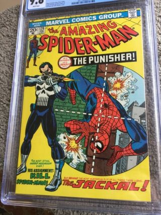 RARE 1974 BRONZE AGE SPIDER - MAN 129 CGC 9.  8 UNIVERSAL KEY 1ST PUNISHER 12