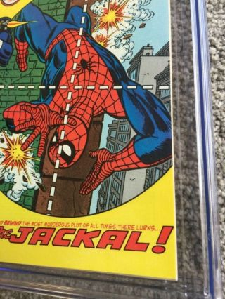 RARE 1974 BRONZE AGE SPIDER - MAN 129 CGC 9.  8 UNIVERSAL KEY 1ST PUNISHER 6