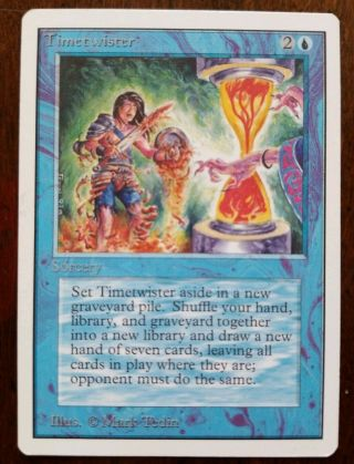 Timetwister (nm, ) Unlimited Ed.  Magic The Gathering Mtg Power Nine Never Played