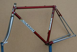 Vintage 1983 Colnago Mexico Columbus Steel Campagnolo Frame Frameset Saronni Red
